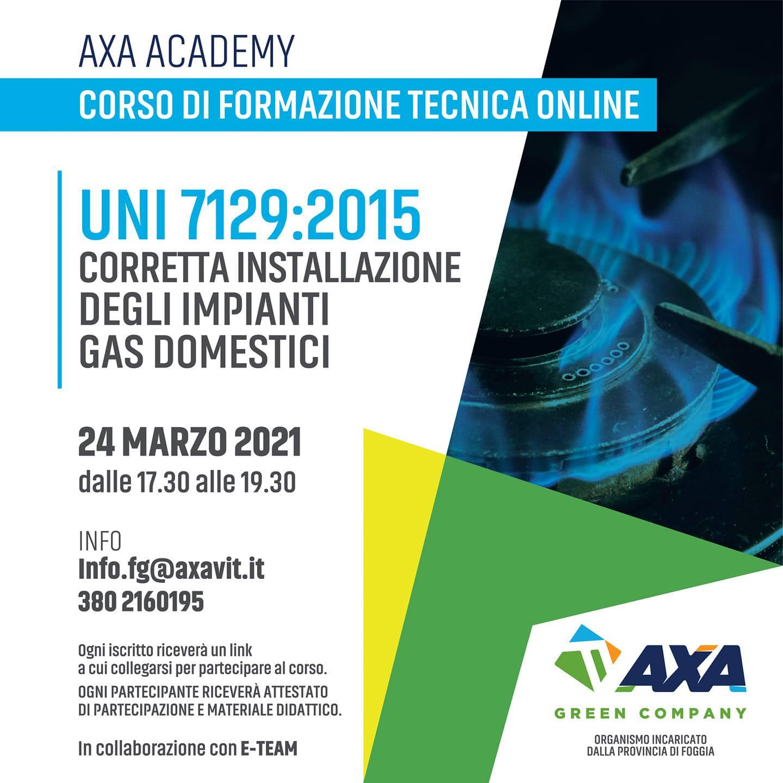24 marzo 2021: corso online sulla corretta installazione degli impianti gas domestici