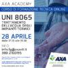28 aprile 2021: UNI 8065 trattamento dell'acqua degli impianti termici