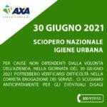 30 giugno 2021: Sciopero nazionale settore ambientale